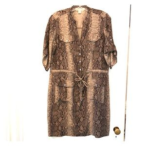 Michael Kors Snake Print Silk Dress
